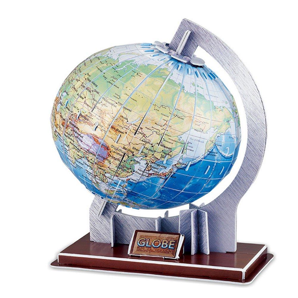 値引 3dステレオパズルGlobeペーパーパズルWorld Globe with with B075ZQDVPZ Stand Stand ( 47 Piece ) B075ZQDVPZ, プレイリー ウェブショップ:1fae3a1a --- clubavenue.eu