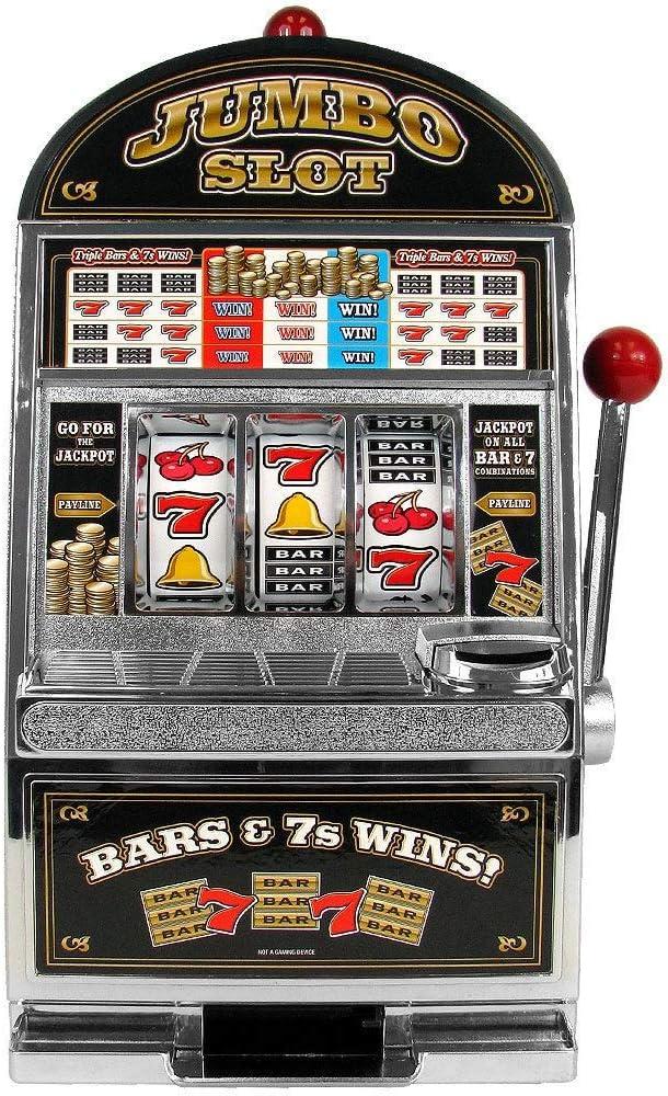 Jumbo Slot Machine Bank - Replication Metal
