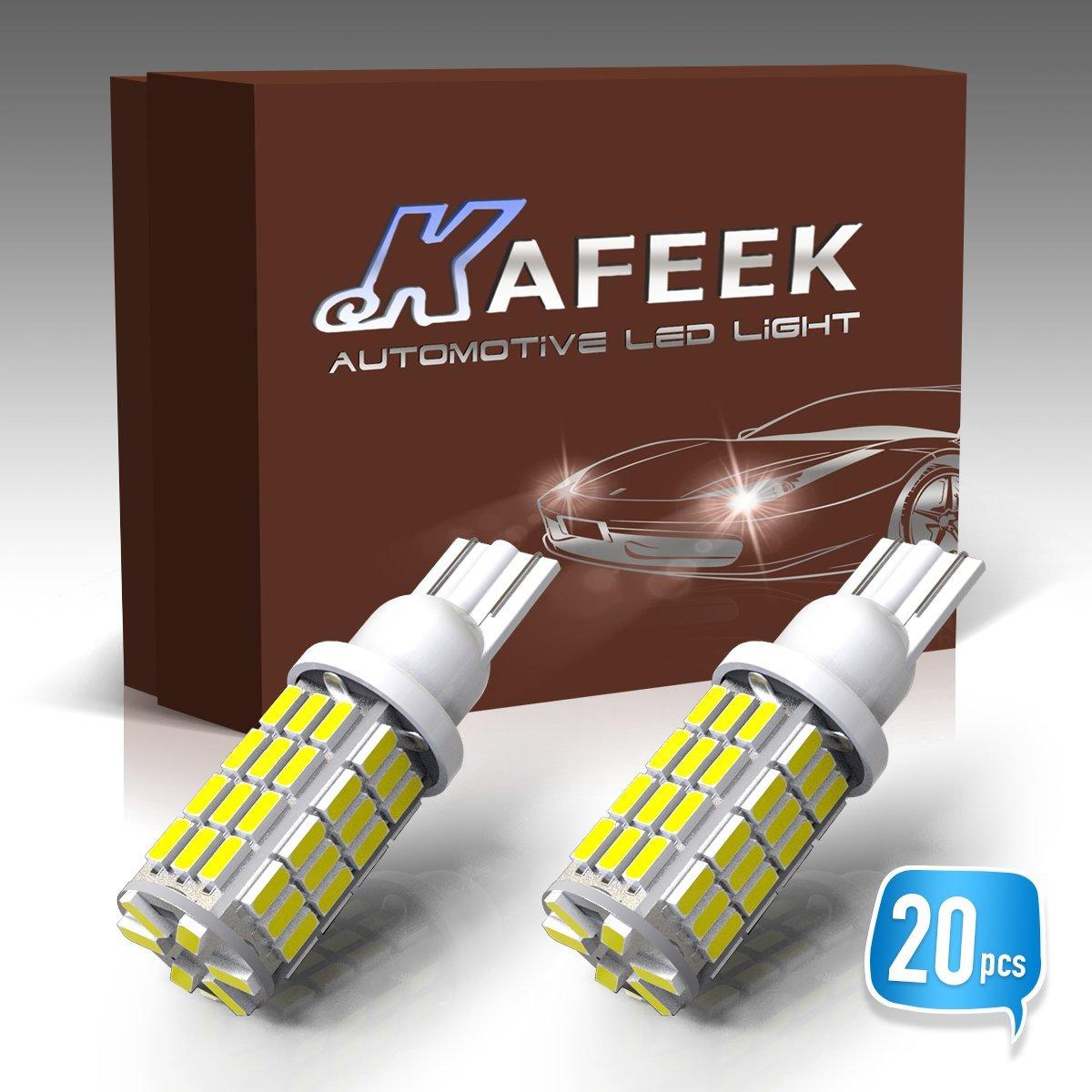KAFEEK 10x RV Trailer T10 921 194 168 2825 912 LED Bulbs 12V Interior Light Backup Reverse Light 54-3014 Chipset, White