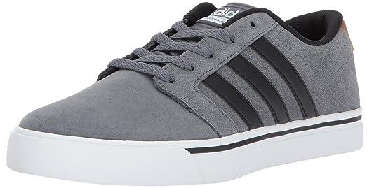 adidas NEO Men's CF Super Skate Sneaker, Grey Four/Black/Timber, 7.5