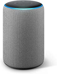 Certified Refurbished Echo Plus (2nd Gen) - Premium sound with built-in smart home hub - Heather Gray