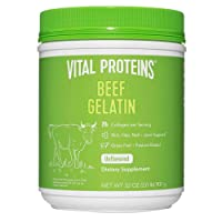 Vital Proteins Beef Gelatin Powder, Pasture-Raised & Grass-Fed Beef Collagen Protein Supplement with Proline & Hydroxyproline, Non-GMO, Gluten & Dairy & Free, Whole30 Approved, Paleo friendly - 32 oz
