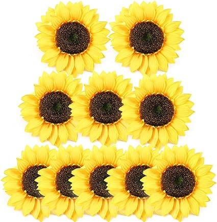 5 Fleurs de Tournesol Artificielles Fausses Plantes Décoration Intérieure Extéri