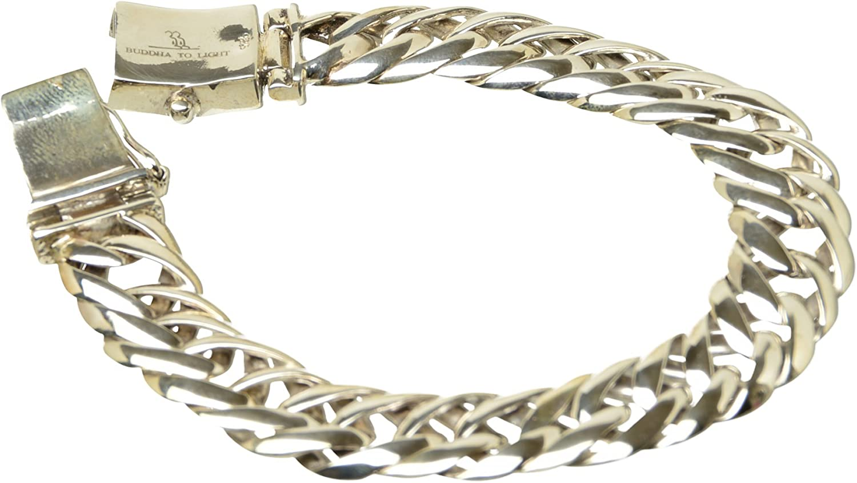 Buddha to Light B2L handmade 925er Sterlingsilber Armband Erik Oval medium