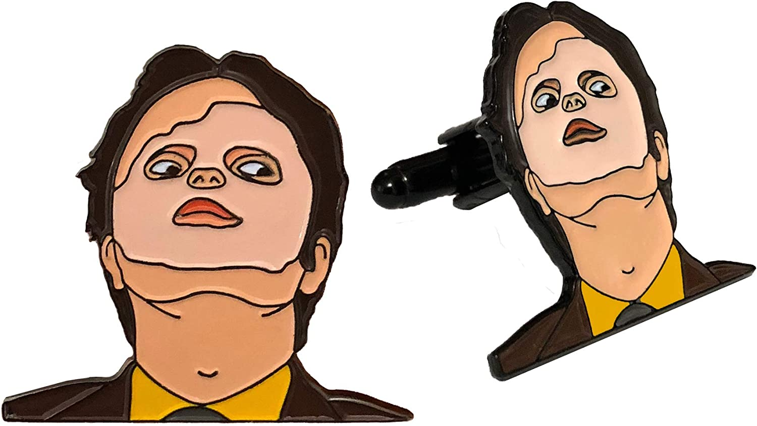 Balanced Co. Dwight Schrute Mask Cufflinks Rainn Wilson Cuff Links