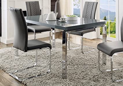 Awesome Amazon Com Miami Rectangular Dining Table In High Gloss Interior Design Ideas Philsoteloinfo