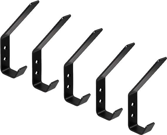 Gedotec Wall Mounted Universal Coat Hooks Stainless Steel Curved Sand Large 140 X 19 Mm Screw Wall Hooks Pack Of 5 Matt Black Modell Sandra Schwarz Amazon Co Uk Diy Tools