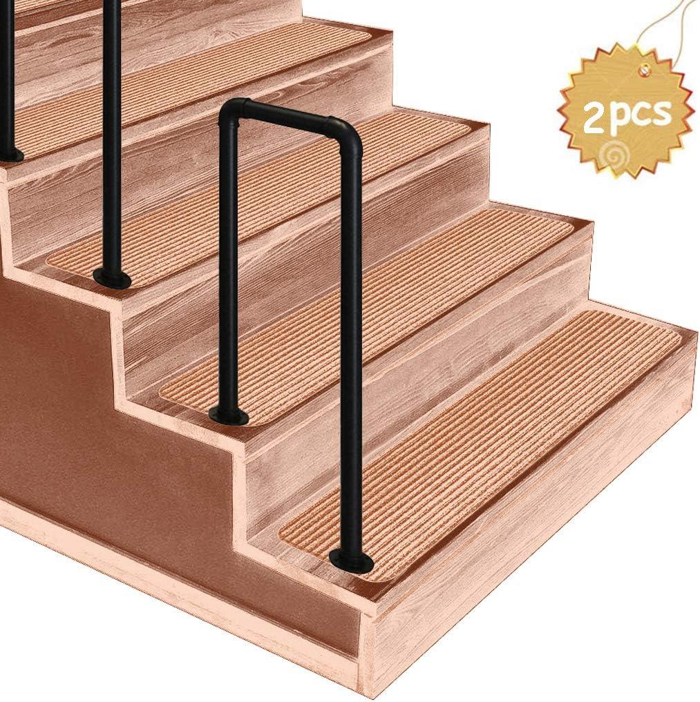 ZzJj - Piquete de barandilla #fit 2 o 4 peldaños barandillas de Hierro Forjado, escaleras Exteriores para niños Mayores barandillas de rejas, para porches, peldaños de jardín