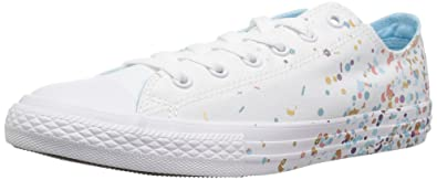 f5c151647b28e3 Converse Girls  Chuck Taylor All Star Metallic Foil Low Top Sneaker