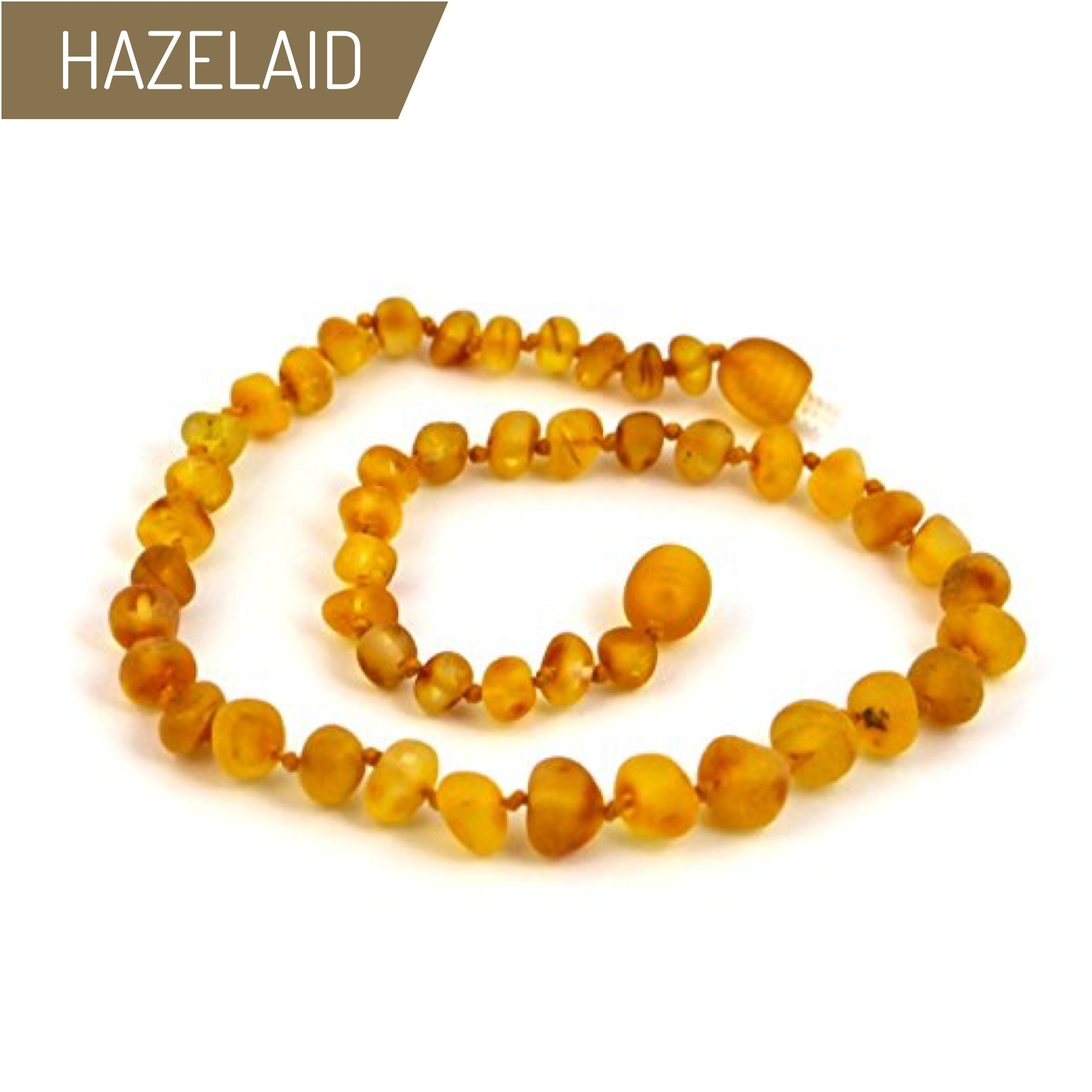 Hazelaid (TM) 14'' Twist-Clasp Baltic Amber Caramel Necklace