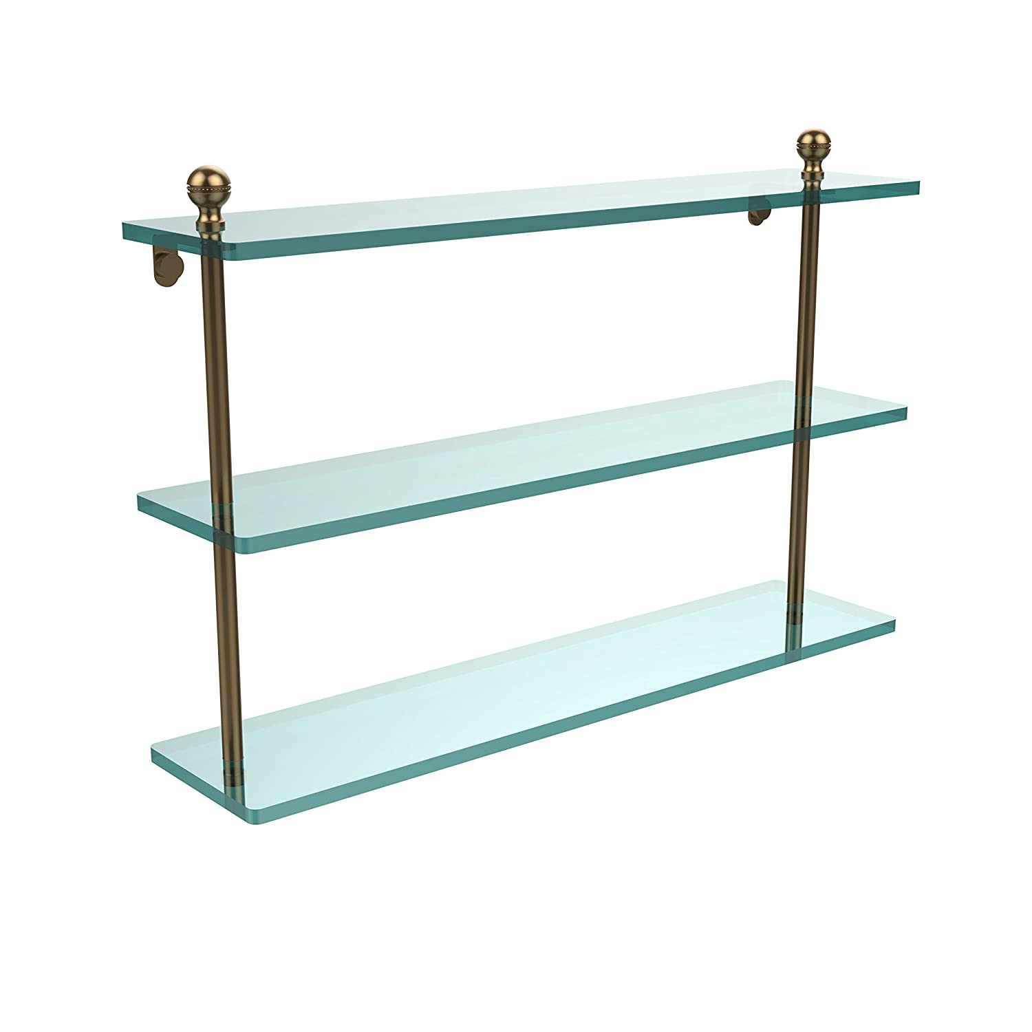 Allied Brass MA-5/22-BBR 22 Triple Glass Shelf Brushed Bronze by Allied Brass B003XRL0UG つや消しブロンズ つや消しブロンズ