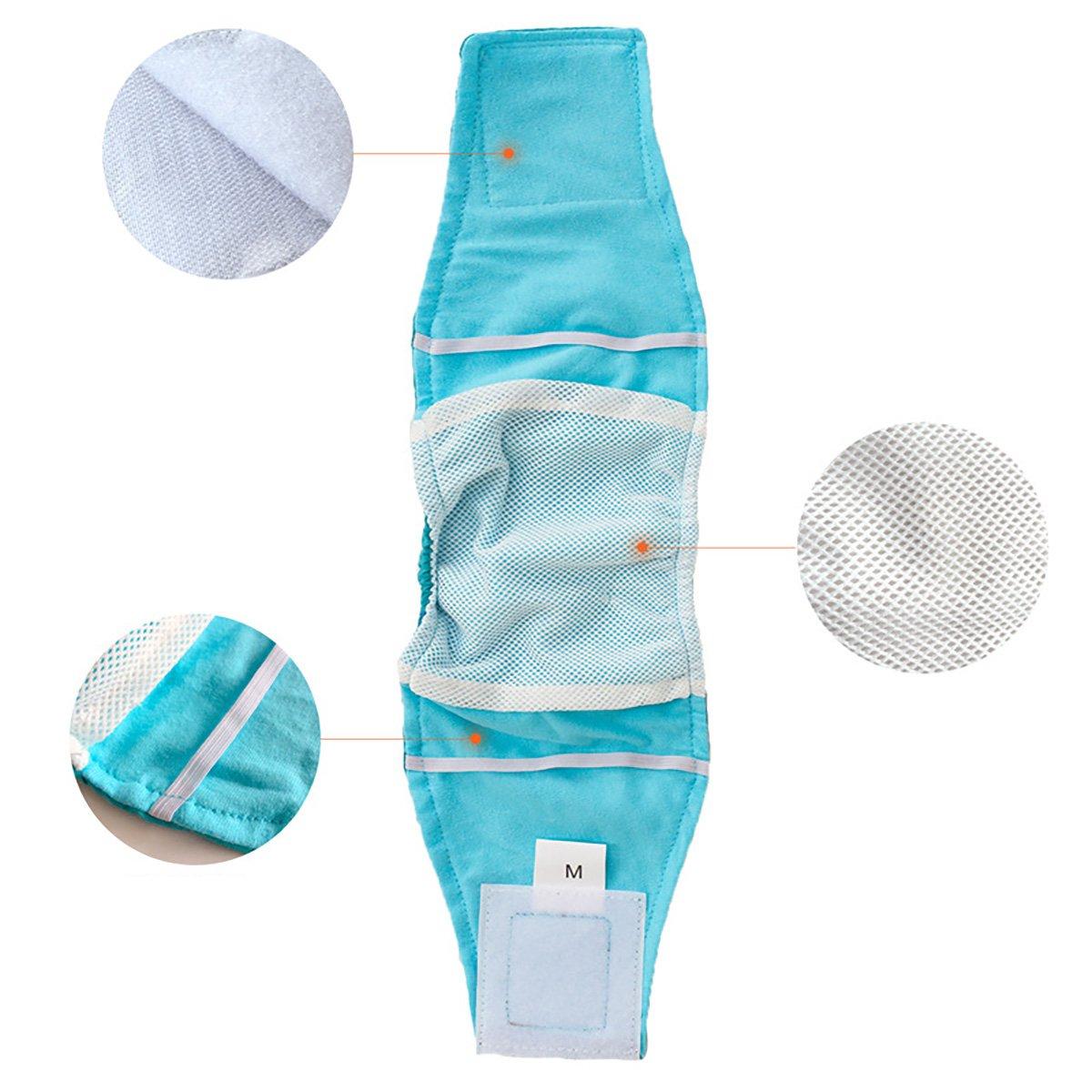 UHeng 4 PCS Male Dog Reusable Wrap Diaper Washable Puppy Belly Band by UHeng (Image #7)