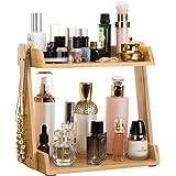 Gobam 化妆抽屉收纳盒,非常适合唇膏及更多,竹子 A1(2-layers Makeup Organizer)