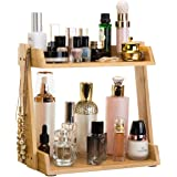 GOBAM Makeup Organizer, Cosmetic Storage Display Shelf with 2 Layers, Assemble Easily, Fits Different Cosmetics and More, Nat