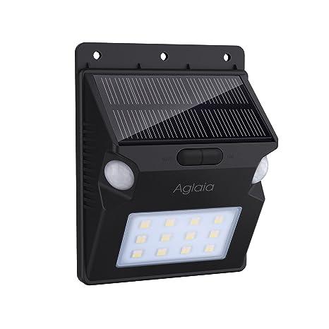 Sensore Di Movimento Per Luci Esterne.Aglaia Lampada Solare Con Doppio Sensore Di Movimento 1w Luce Solare Da Esterno Con 12 Led 5 Modalita E Rgb Colore Cambiamento Per Giardino