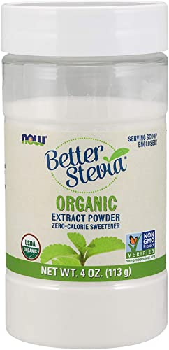 Now Better Stevia Organic Sweetener, 4 oz. Pack of 2