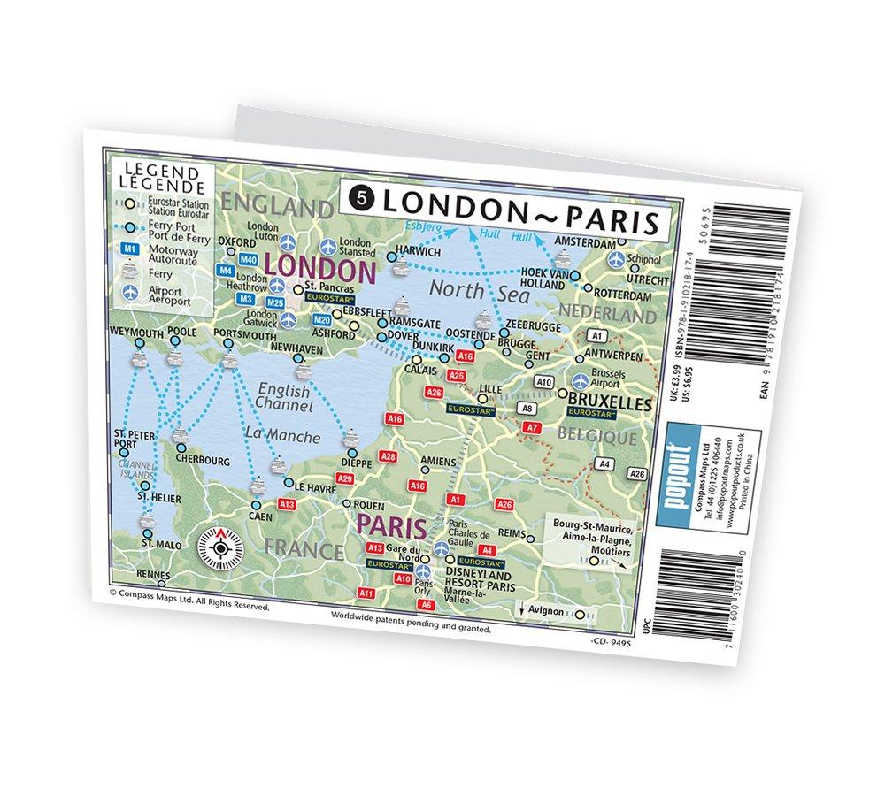london paris popout map popout maps popout maps 9781910218174 amazoncom books