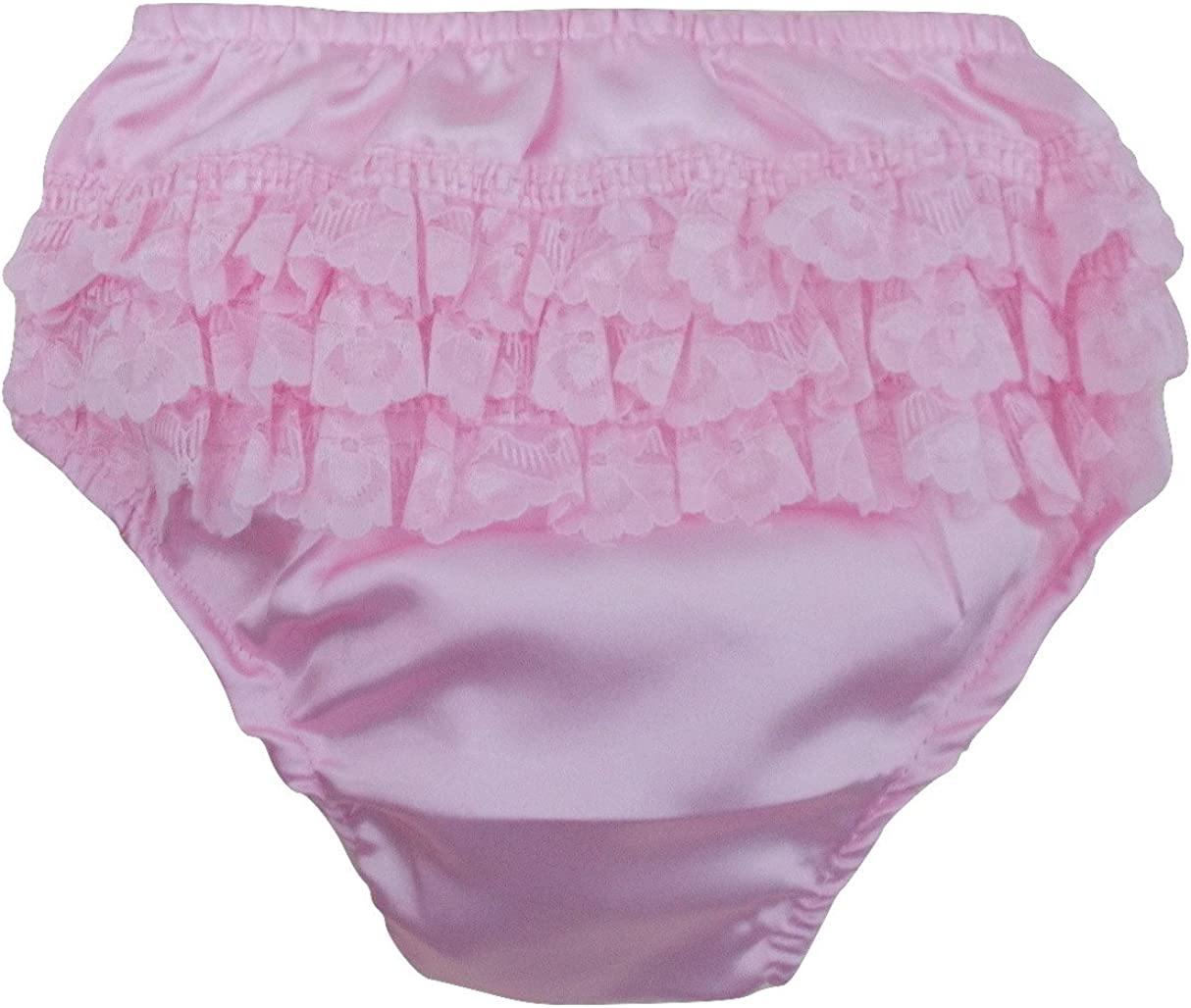 Baby Girls Romany Cotton Frilly Nappy Covering Pants White Satin Bow /& Lace