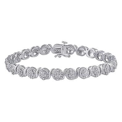 Amazon.com: 1.00 Cttw Diamond Round frame Bracelet: Jewelry