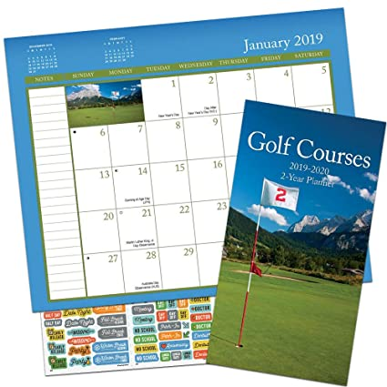 Golf Calendar 2020 Amazon.: Golf Planner Calendar 2019 2020 Set   Deluxe Golf 2