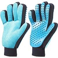 ORIA 2PCS Pet Bürste Handschuh, Haustier Grooming Bürsten Deshedding Glove