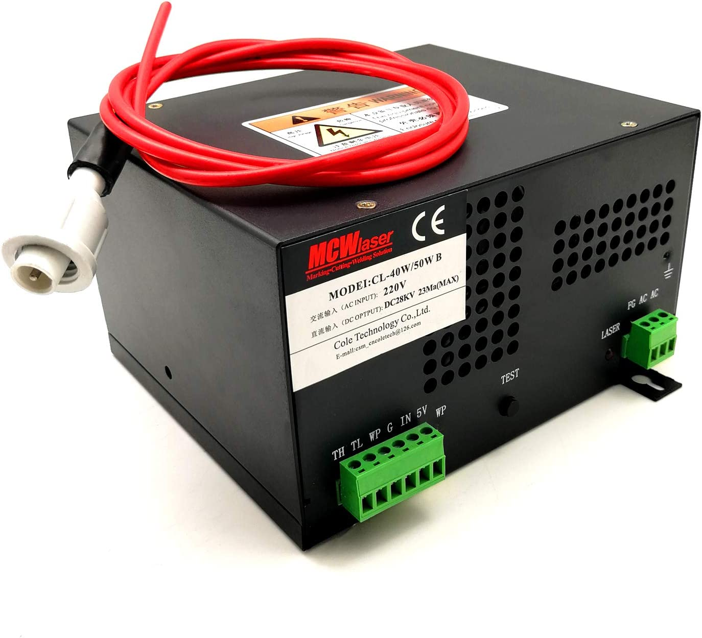 HQ MCWlaser 80W CO2 Laser Power Supply for CO2 laser Engraver Cutter AC 110V