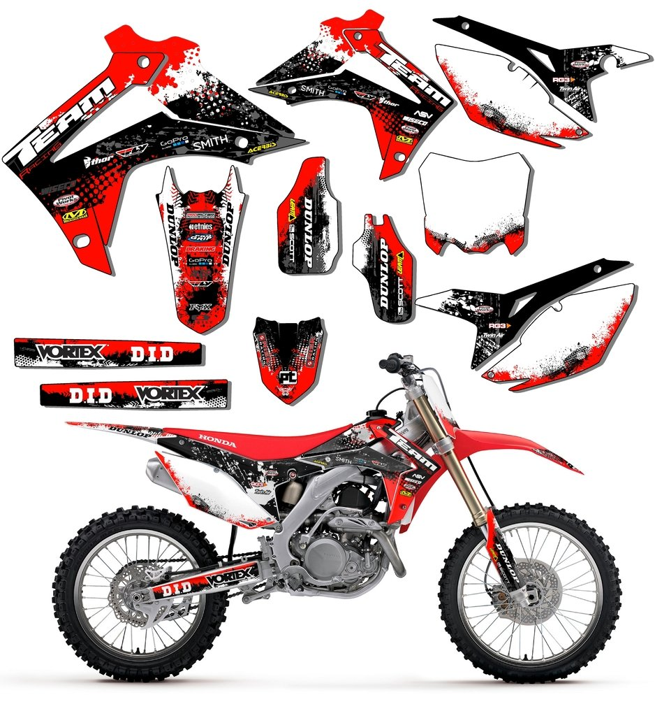 Team Racing Graphics kit for 2013-2019 Honda CRF 50, SCATTER