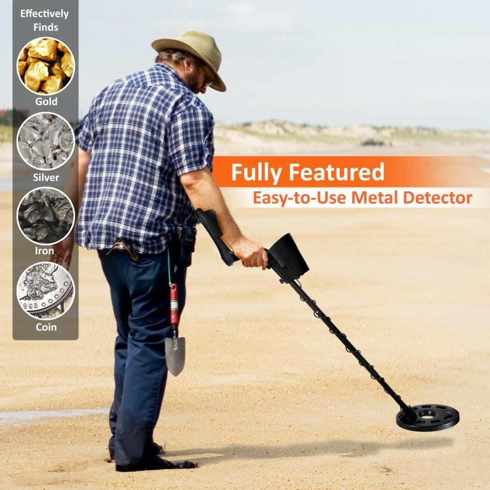 Pyle Pro - Detector de Metales de Mano con Altavoz Integrado de Alta sensibilidad, cómodo Brazo, 5 Modos de detección, para Encontrar Oro, Plata, Hierro, ...