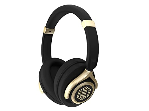 [Apply coupon] Nu Republic Starboy 2 Over-Ear Wireless Headphones (X-Bass) (Black & Gold)