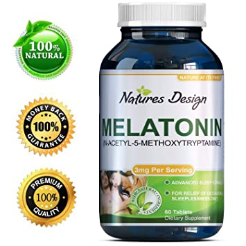 Best All Natural Sleep Aid – Pure Melatonin Supplement – Gentle 3mg Dosage – Fall Asleep