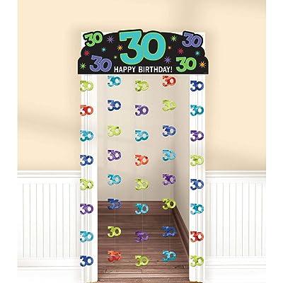 """Happy 30th Birthday"""" Doorway Curtain: Kitchen & Dining,"""