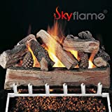 Skyflame 24-inch Fireplace Log Grate with Dual