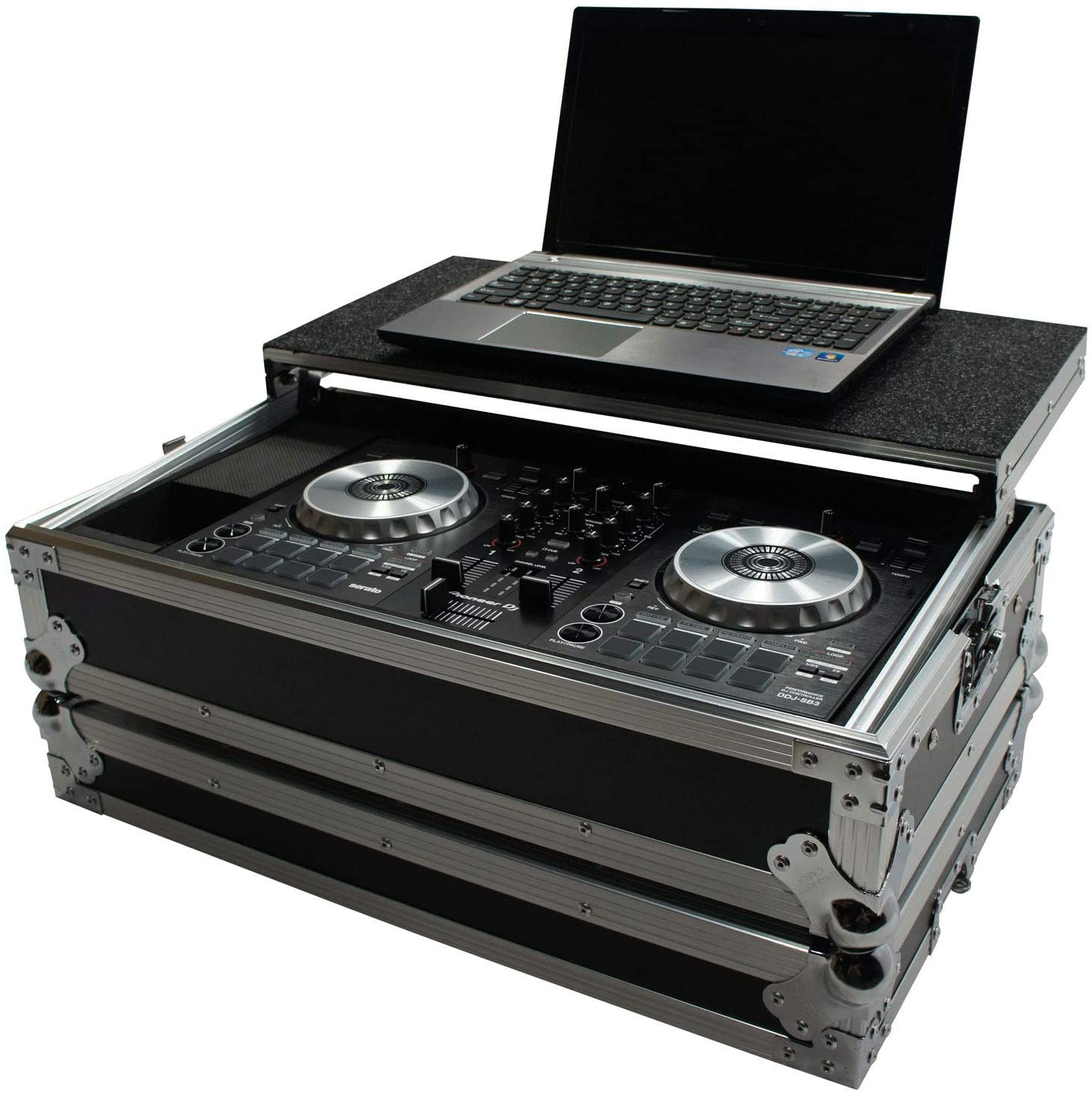 Harmony HCDDJSBLT Flight Glide Laptop Stand Road DJ Case Compatible with Pioneer DDJ-SB3