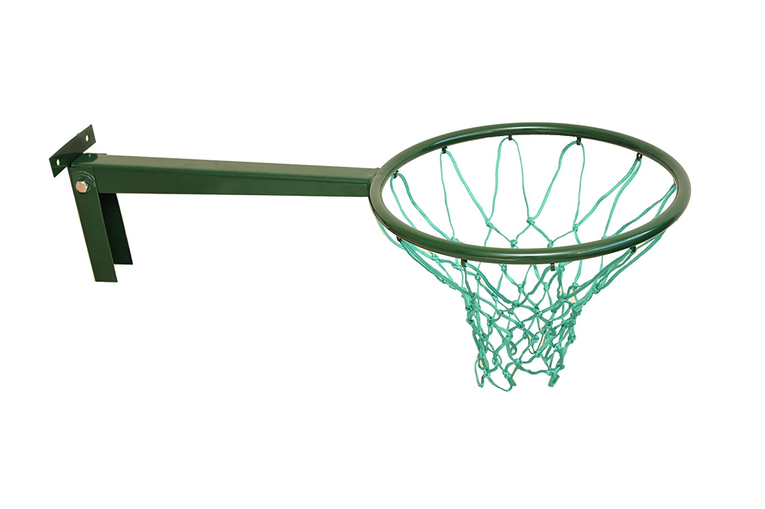 British Made Long Reach Removable Netball Ring with robust bracket and top quality 3mm twine. Avonstar Trading Co. Ltd.