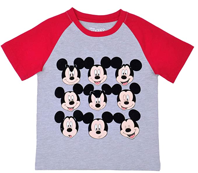 3affb5830f2 Amazon.com  Disney Mickey Mouse Facial Expressions Little Toddler Boys T  Shirt  Clothing
