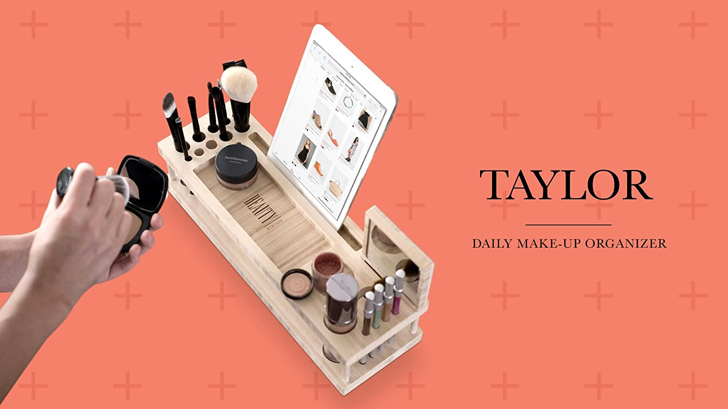 Taylor Beauty Station   Daily Makeup Organizer With Mirror by I Skelter