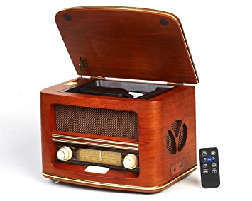 Vintage Teas Radio Retro Radio CD Player/CD/MP3/FM lw| USB Interface ...