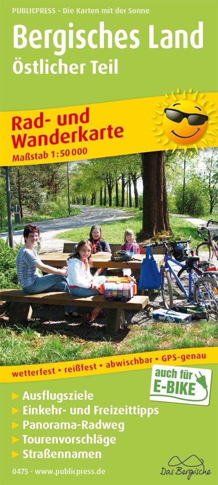 Bergisches Land Östlicher Teil  Rad  Und Wanderkarte Mit Ausflugszielen Einkehr  And Freizeittipps Wetterfest Reissfest Abwischbar GPS Genau. 1 50000  Rad  Und Wanderkarte   RuWK