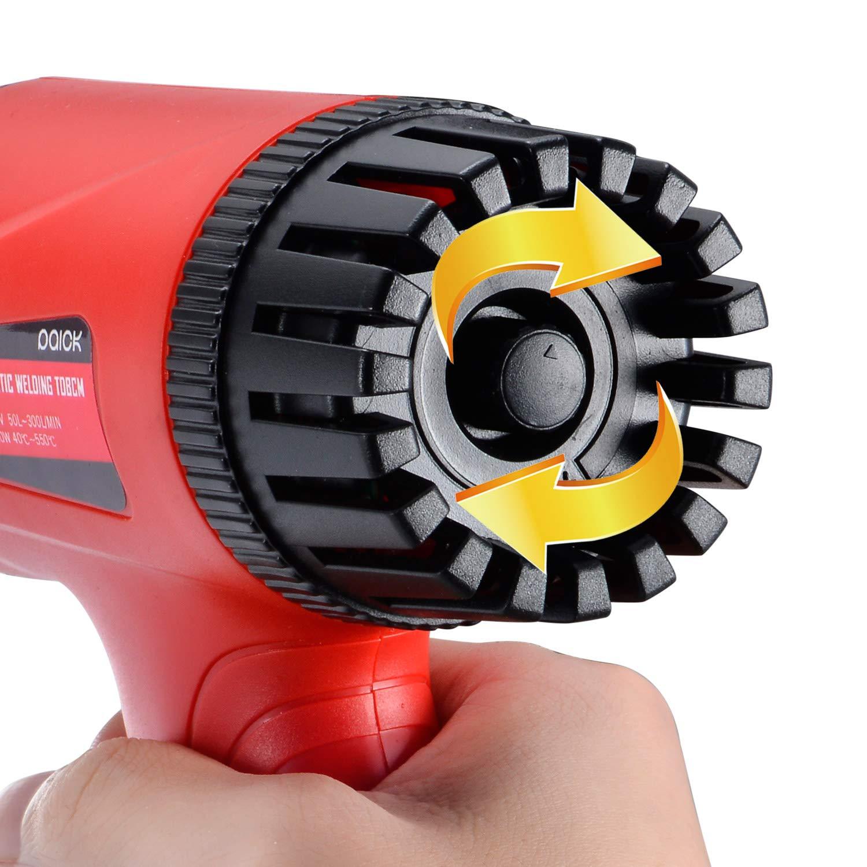 Pistola de aire caliente profesional de 700 W secador de aire caliente el/éctrico para soldar y contraer decapado de PVC regulaci/ón de temperatura 50-550 /°C secado de color