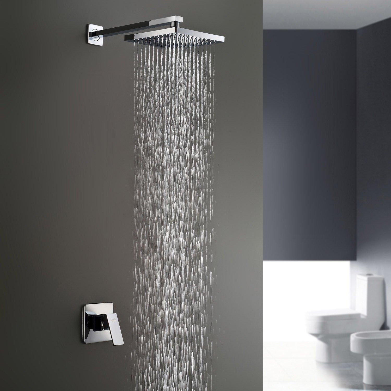 Y&L Bathroom Shower Faucet Set Single Handle Solid Brass Rough-in ...