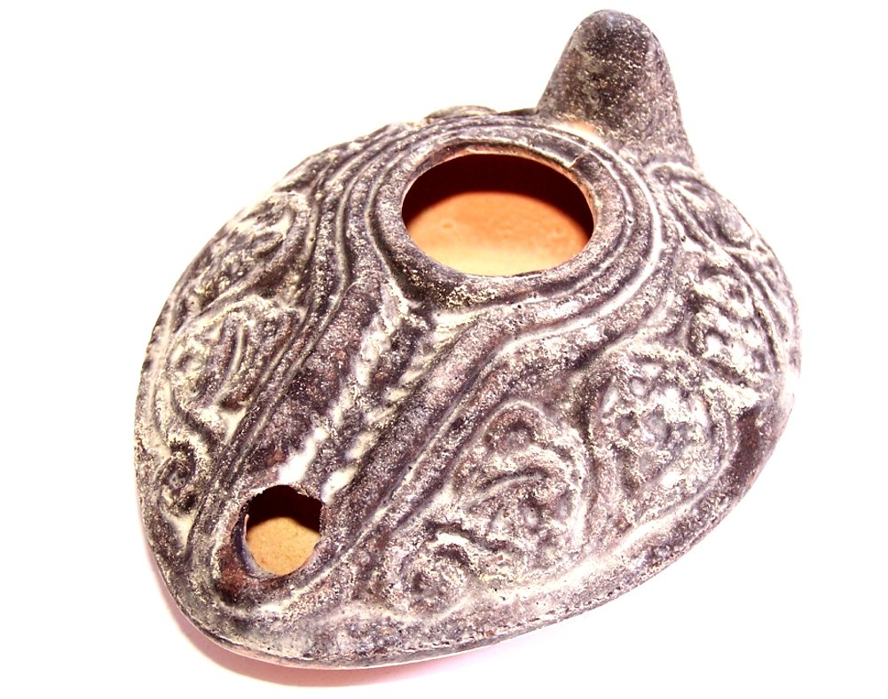 Herodian Ancient Biblical Oil Lamp Replica - Antique (Vintage) - Large Holy Land Market B0048LX7O8