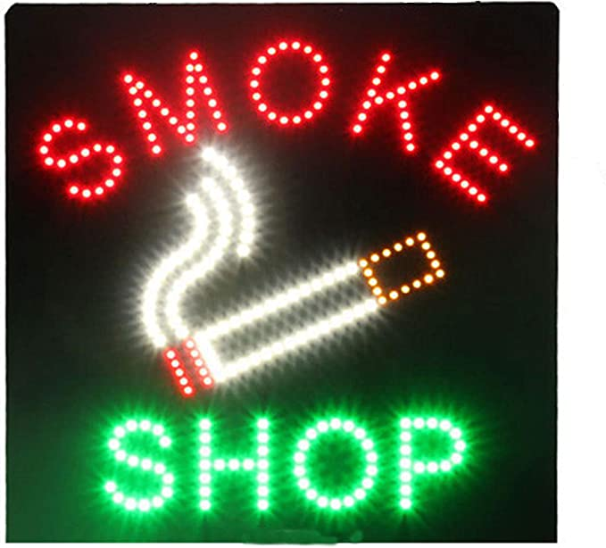 200014 Open Pipe Cigars Shop Smoking Tobacco Display LED Light Sign
