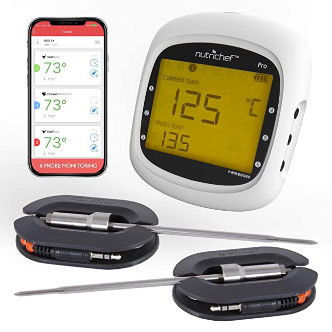 Smart Bluetooth BBQ Grill Thermometer – The Top Rated and Best Selling Bluetooth Meat Thermometer