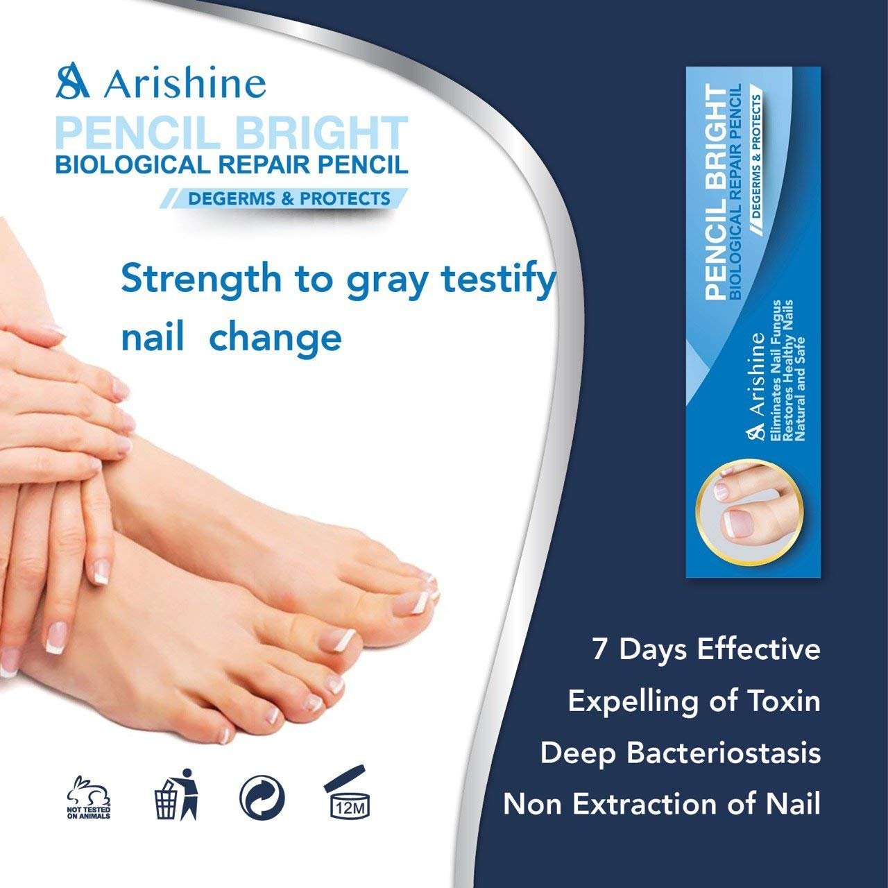 Arishine Toenail Fungus Treatment, Fungus Stop, Maximum Strength Anti-Fungal Nail Solution, Effective Against Nail Fungus, Anti-Fungal Toenails, Fingernails Solution, 4pcs