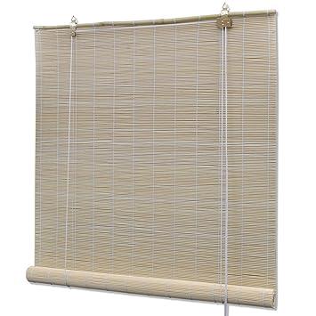 vidaXL Natural Bamboo Roller Blinds 80 x 160 cm: Amazon.co.uk ...