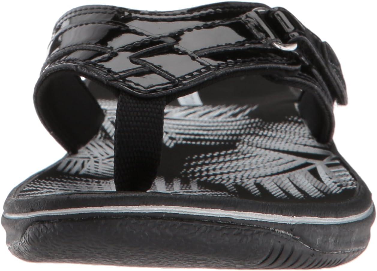 Clarks Women\'s Breeze Sea Ankle-High Sandal Vernice Sintetica Nera