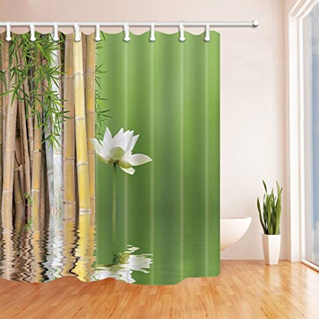 Amazon.com: NYMB Zen Garden Theme Decor, Lotus Side Bamboo Shower ...