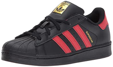 adidas Originals C77154_Superstar_adidas Originals, Basses Mixte enfant Noir (Black/White/Black)
