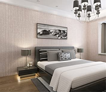 Einfache Gitter beflockte Vlies Pearl Wallpapers Wohnzimmer moderne ...