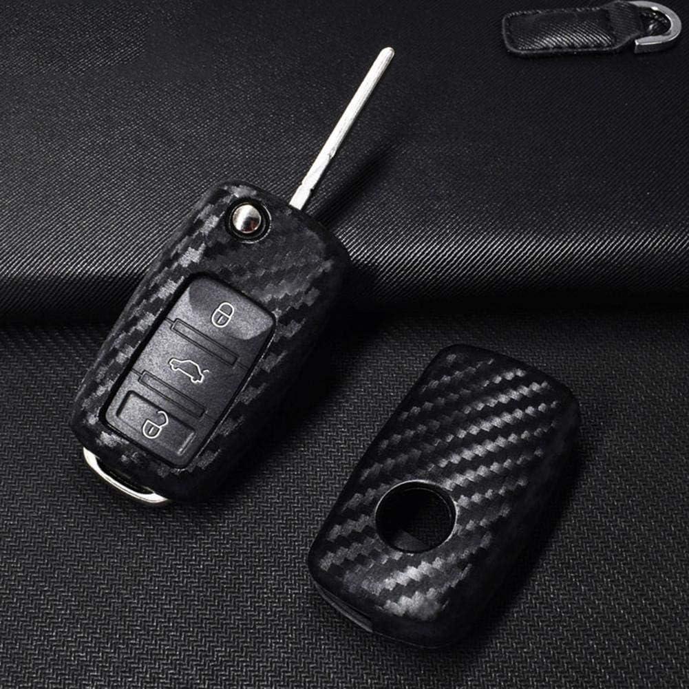 WXGY Coque de cl/é Pliable pour Volkswagen Polo Tiguan VW Passat pour Skoda MK5 T5 1 Pcs with Hook